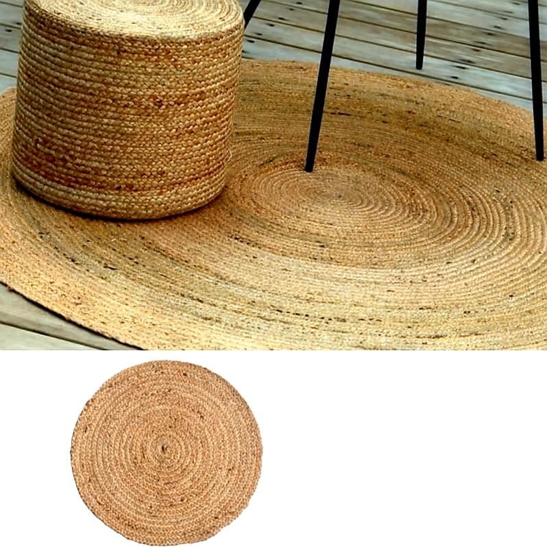 שטיח חבל בשילוב זהב טהיטי