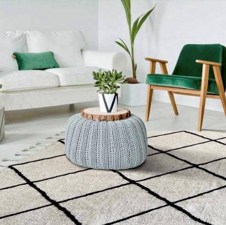 שטיח מעויינים טיבעי סגנון נורדי