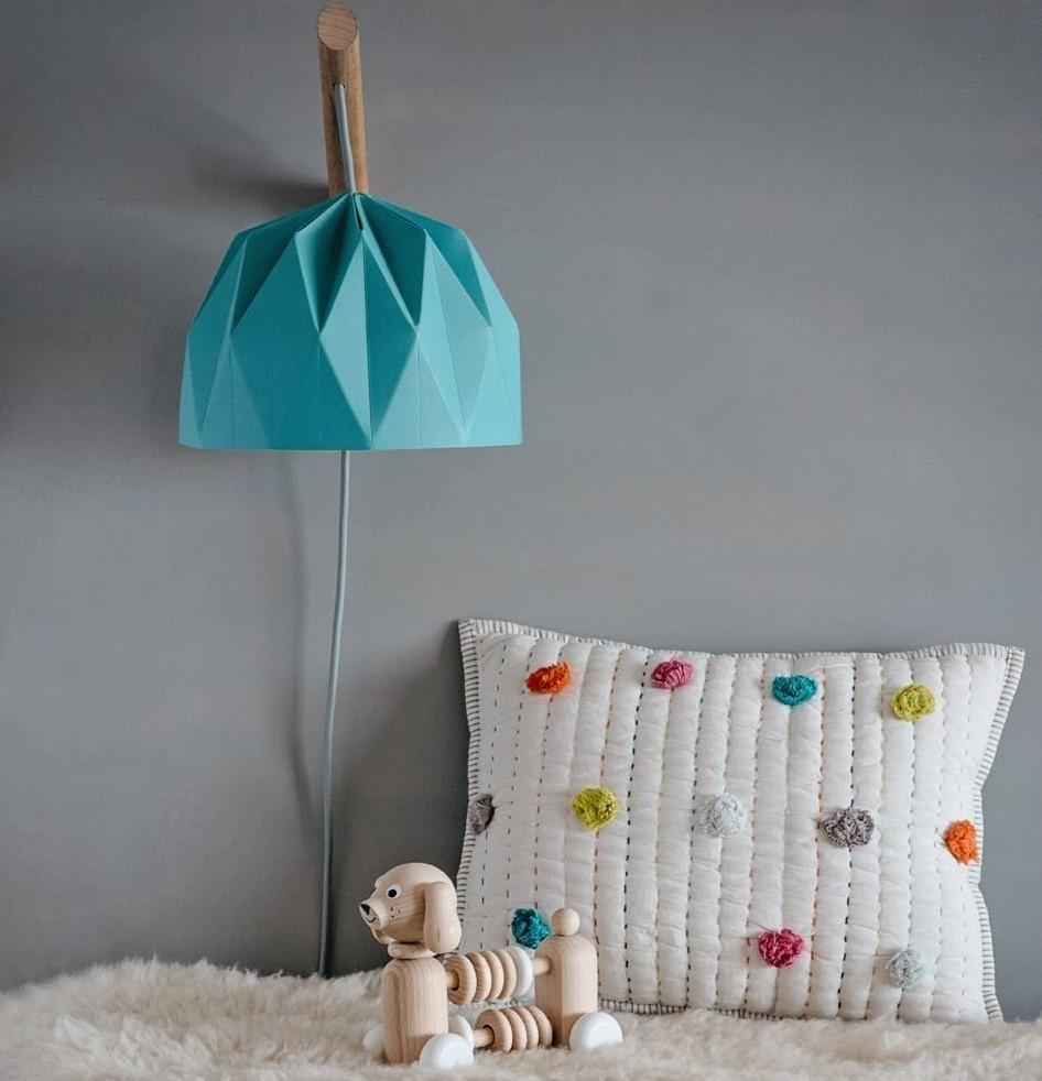 מנורת קריאה אוריגמי טורקיז