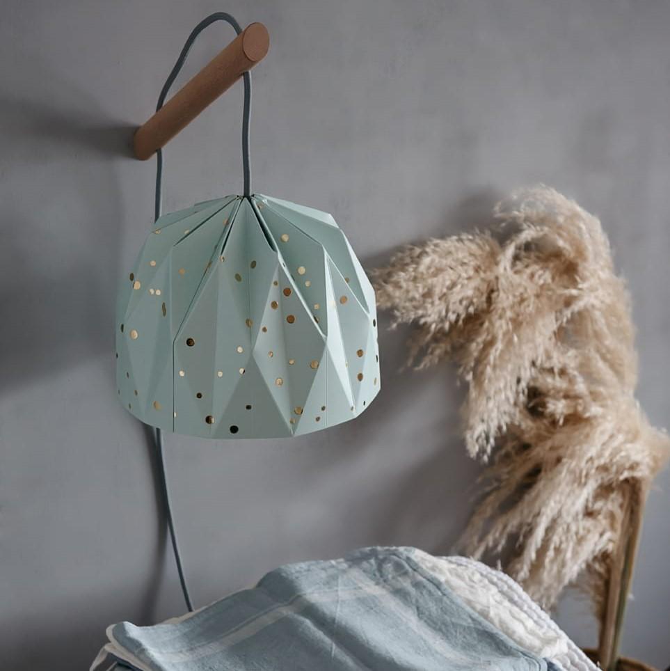מנורת קריאה אוריגמי אקווה קונפטי זהב