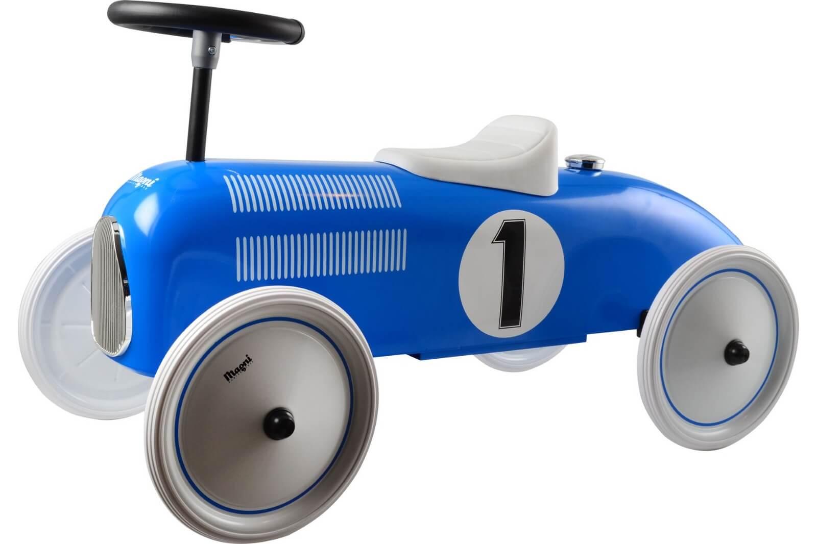 בימבה לתינוק דגם מכונית מרוץ כחולה