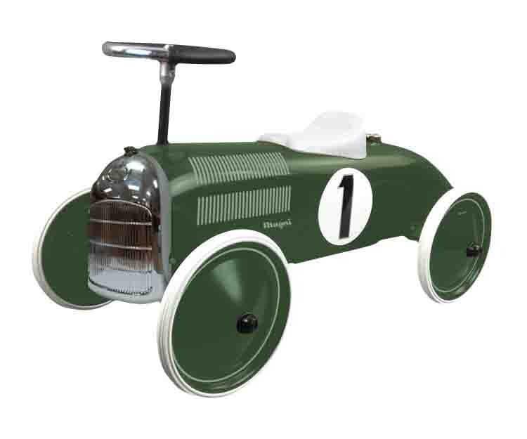 בימבה לתינוקות דגם מכונית מירוץ ירוקה