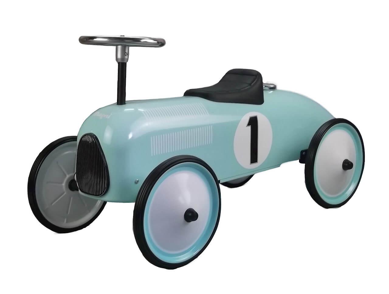בימבה לילדים דגם מכונית מרוץ טורקיז