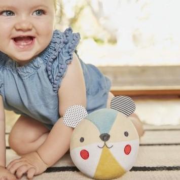 כדור בד רעשן לתינוק דגם דובי