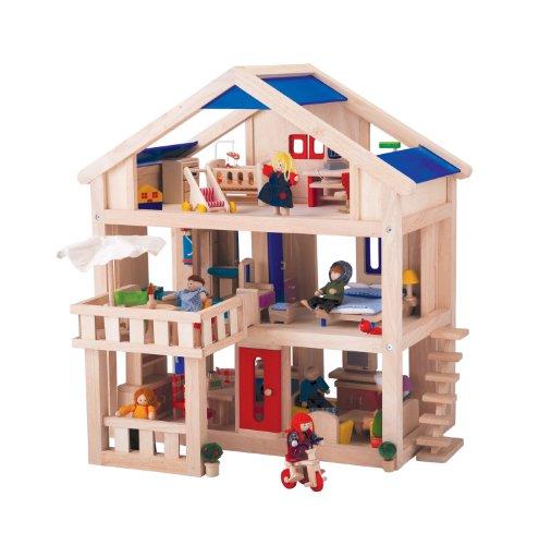 בית בובות לילדים עם מרפסות