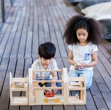 בית בובות לילדים מעץ בית בובות משתנה