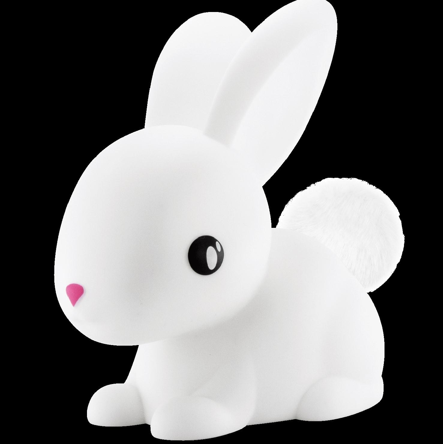 מנורת לילה לחדר ילדים ארנב לבן