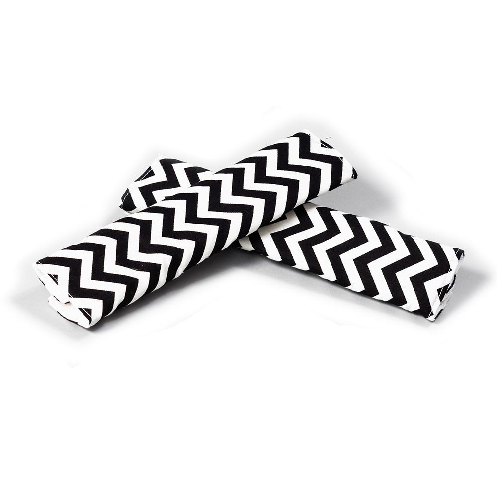 שחור לבן זיגזג - חבקים / חגורות לעגלה