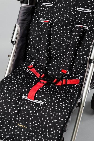 שחור כוכבים - חבקים / חגורות לעגלה