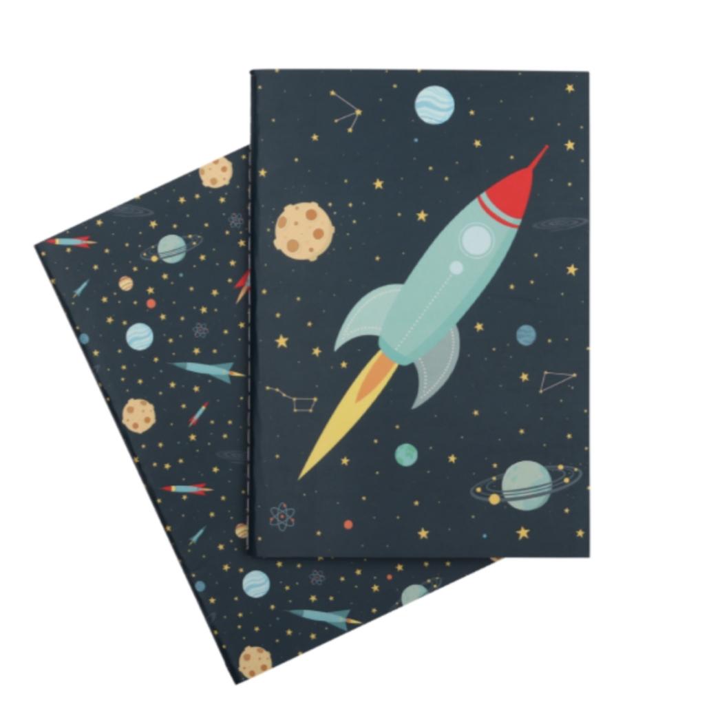 זוג מחברות לילדים דגם חלל