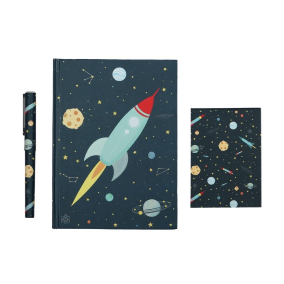 סט כלי כתיבה דגם חלל