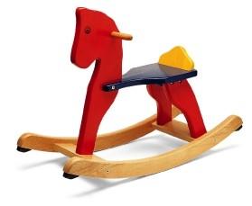 סוס נדנדה מעץ plantoys