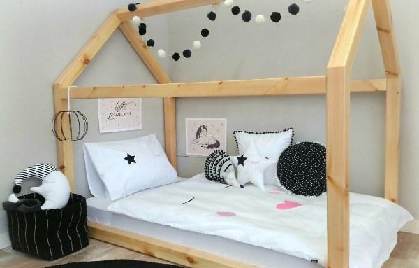 מיטת בית מעץ - תינוק 160/90 - תמונה 2
