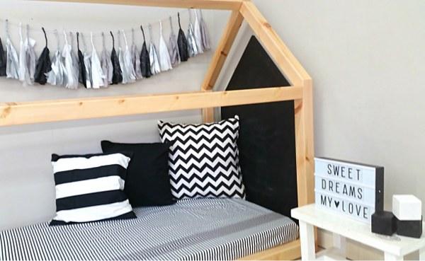 מיטת בית מעץ - תינוק 160/90