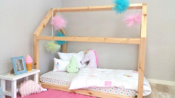 מיטת בית מעץ - תינוק 160/90 - תמונה 3