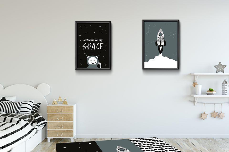 חבילה לעיצוב החדר דגם חלל