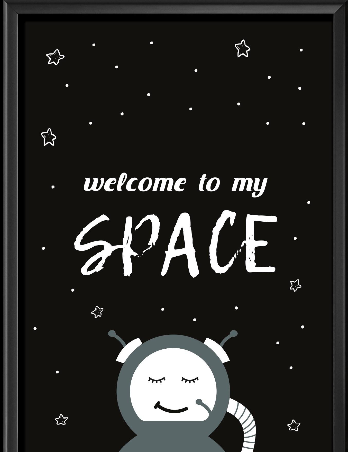 תמונה לחדר ילדים דגם חללית