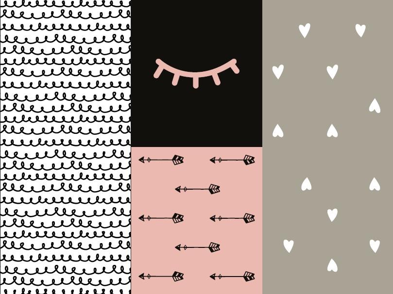 שטיח לחדר ילדים לבבות ורודים