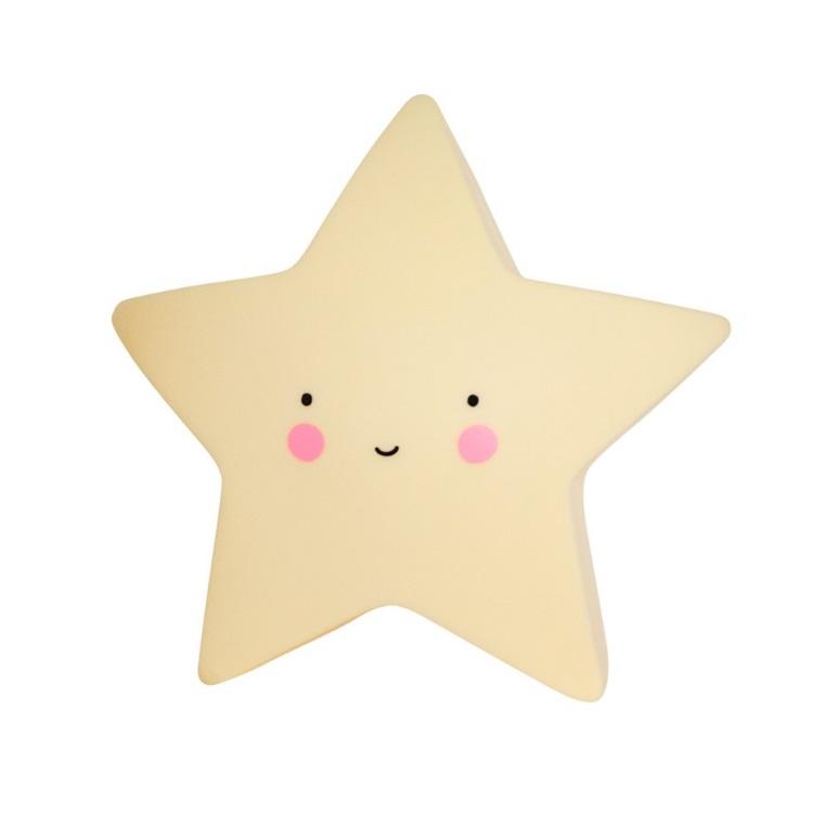 מנורת לילה כוכב צהוב