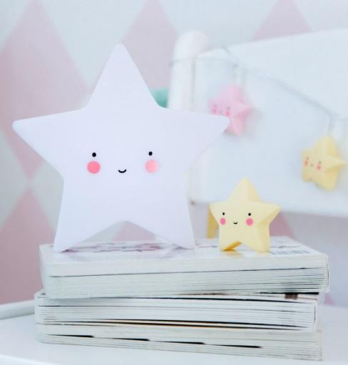 מנורת לילה כוכב לבן