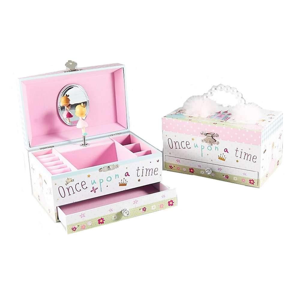 קופסת תכשיטים וקופסת נגינה חד קרן נסיכה