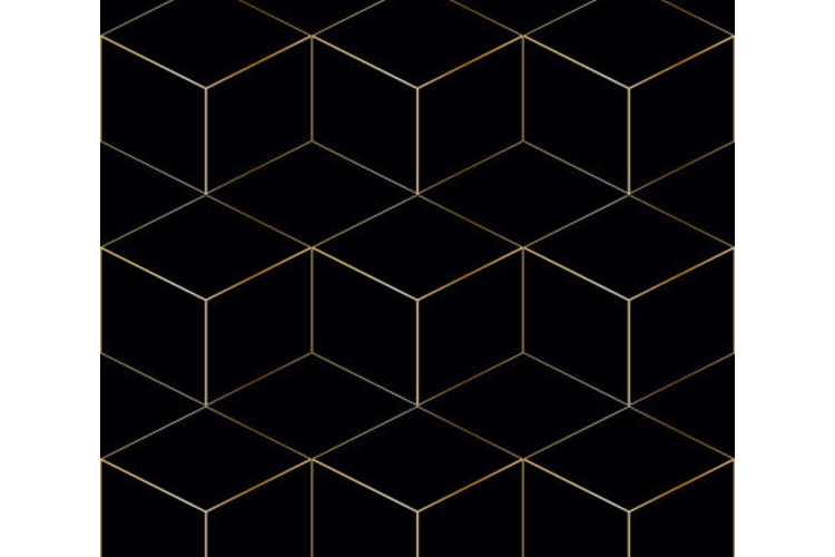 טפט לדלת דגם שחור גאומטרי
