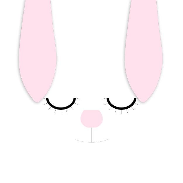 כרית נוי לחדר ילדים דגם ארנב מיפי לבן