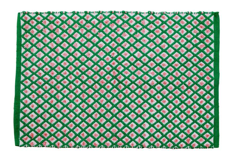 שטיח מעויינים ירוק