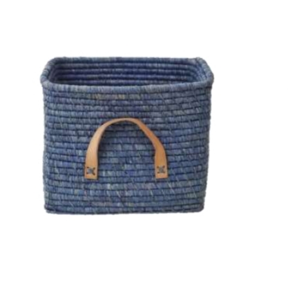 סל אחסון רפיה גוון כחול