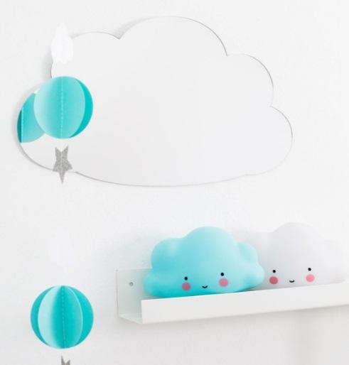 מנורת לילה ענן לבן