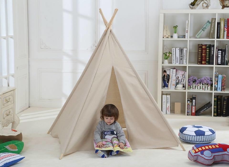 אוהל טיפי לחדר ילדים בגוון נסקפה- מוקה.