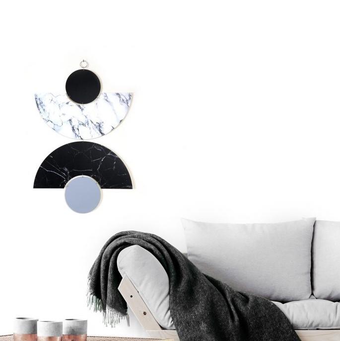 קישוטי קיר דקורטיבים שחור לבן