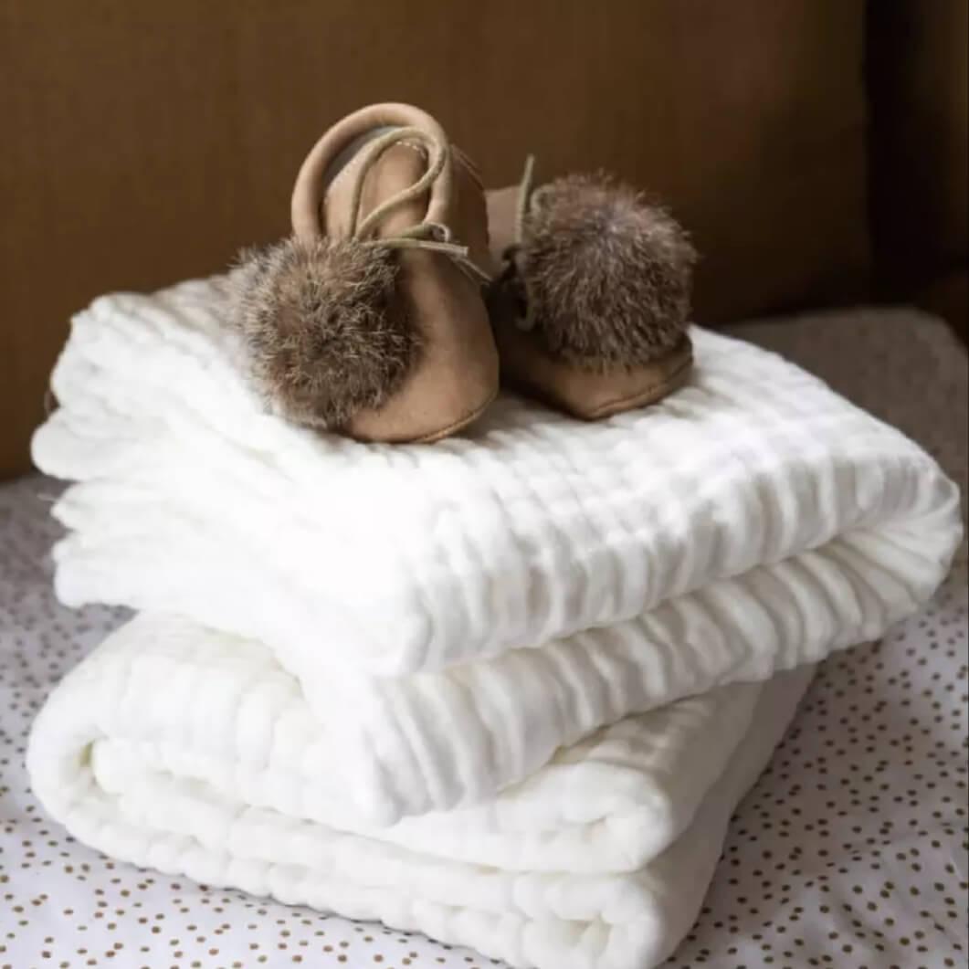 שמיכת טטרה לתינוק גוון לבן