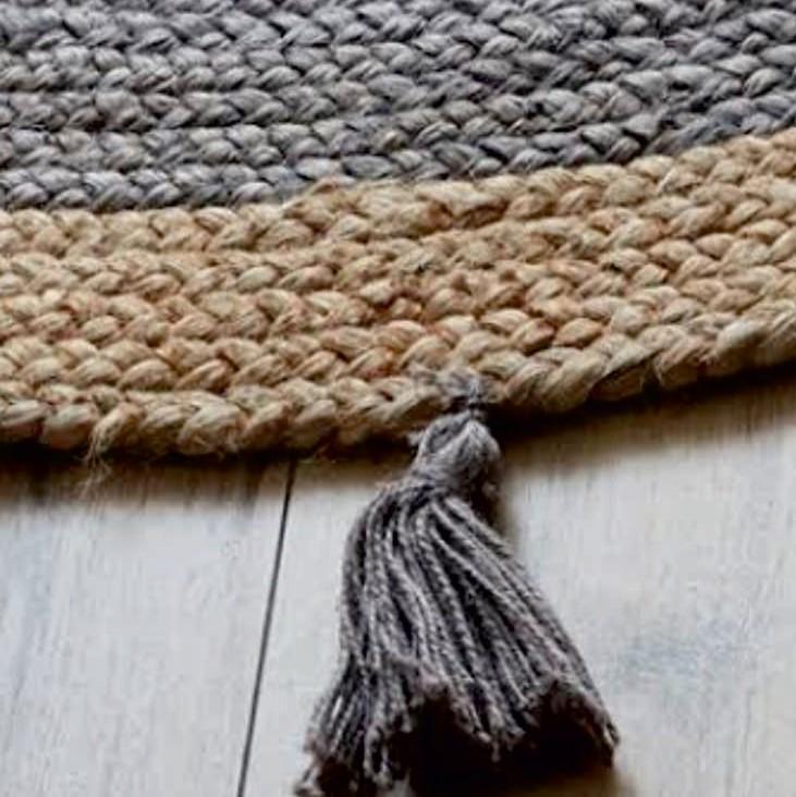 שטיח מקש עם גדילים דגם קריבו