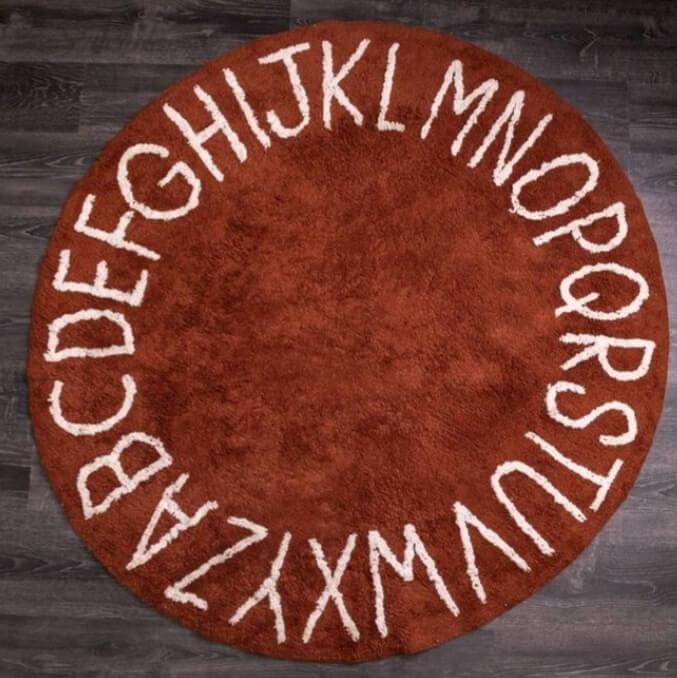 שטיח אותיות בגוון חמרה 150