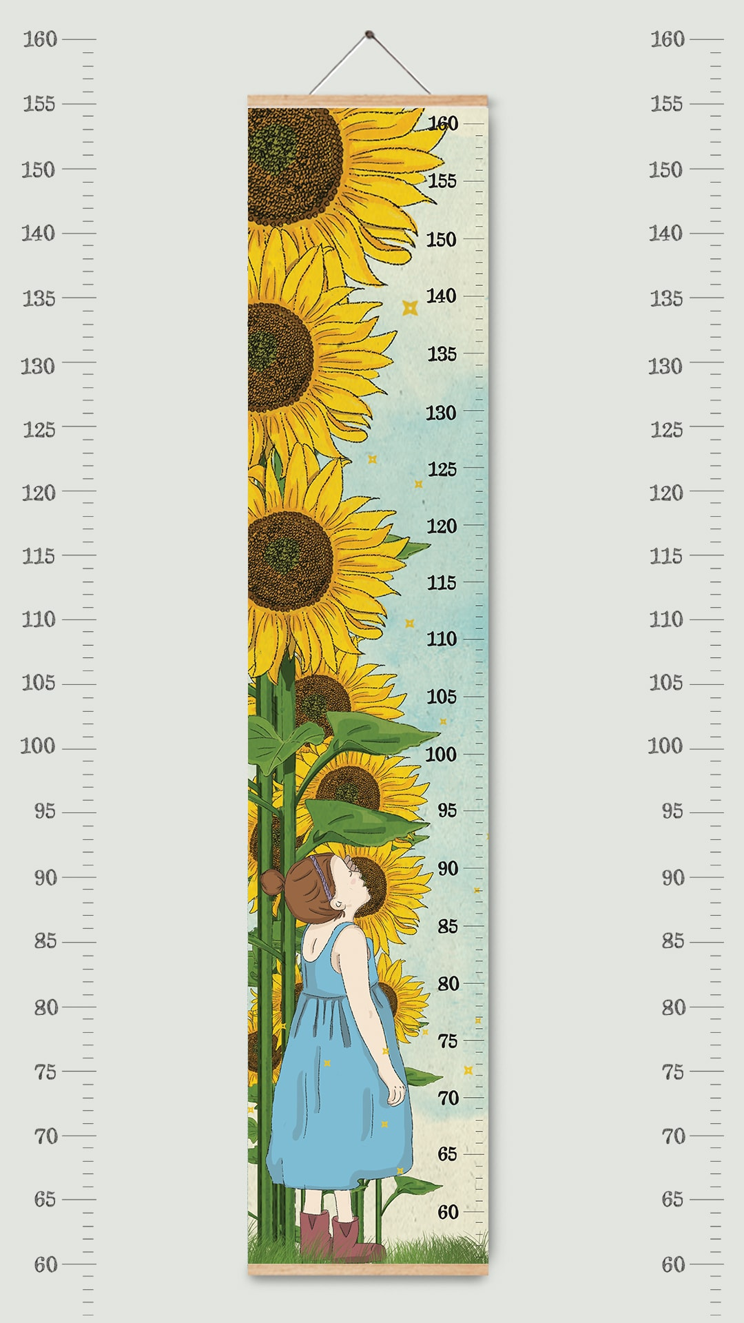 מד גובה לילדים קננואס חמניות