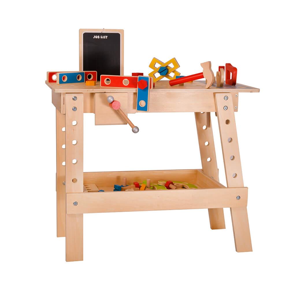 שולחן נגרות מעץ לילדים