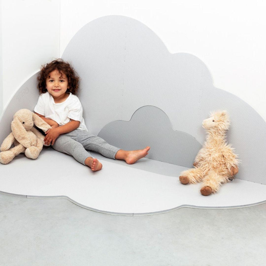 משטח פעילות לתינוק ענן אפור גדול