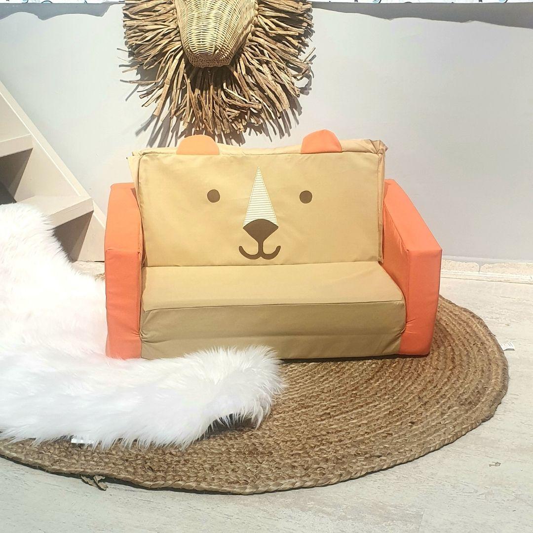 ספה לילדים דגם אריה מוקה