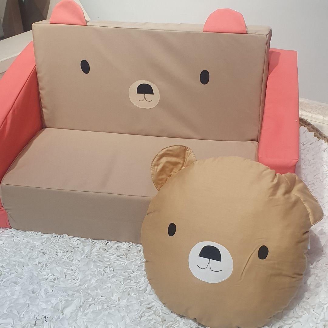 ספה לילדים דגם דובי מוקה