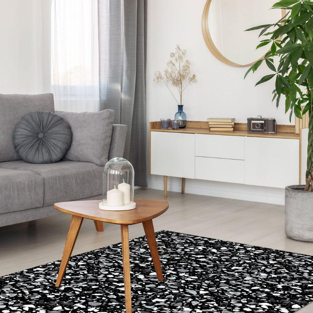 שטיח פי וי סי טרצו שחור