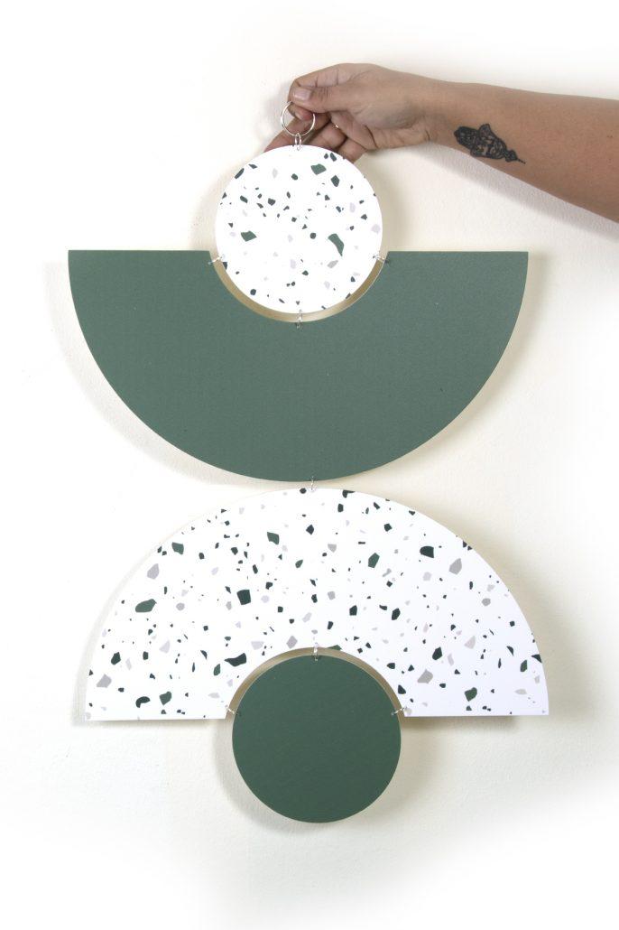 קישוטי קיר שליוב ירוק וטרצו