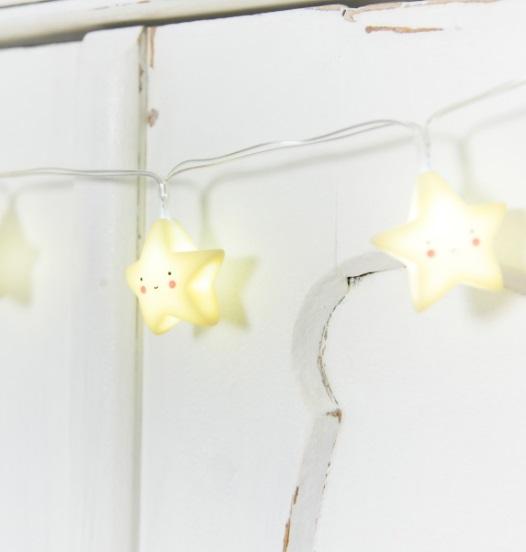 גרילנדת מנורות - כוכבים צהובים - תמונה 4