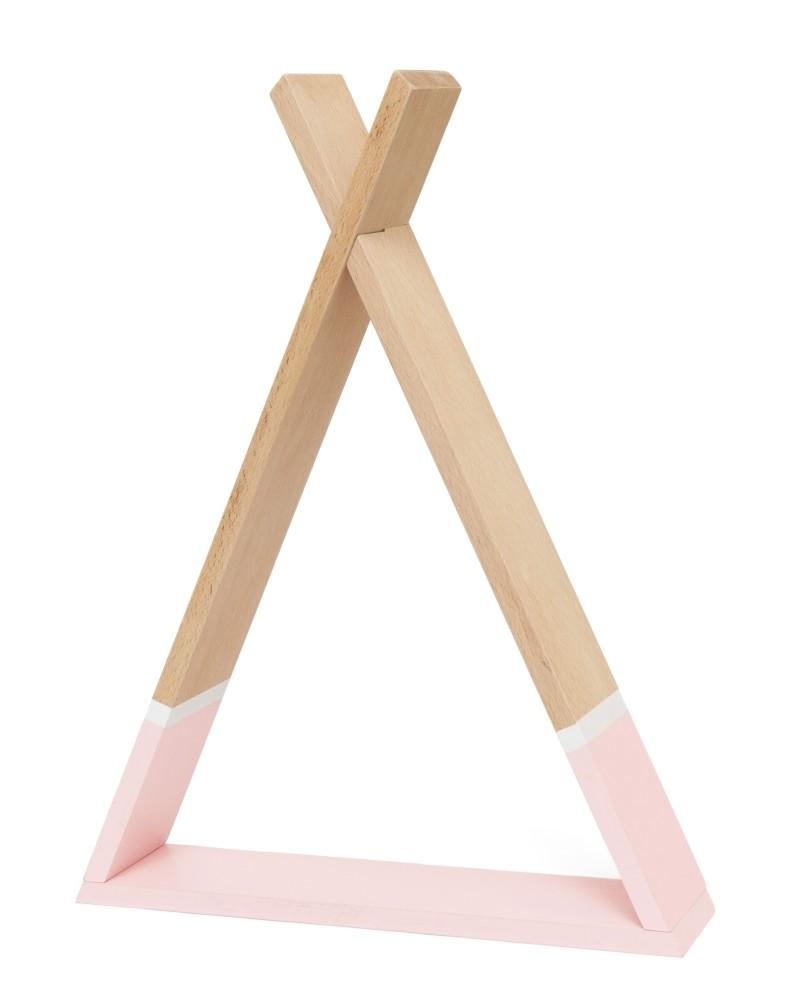 מדף טיפי לחדר ילדים מדף טיפי בצבע ורוד אקססוריז עיצוב חדר ילדים