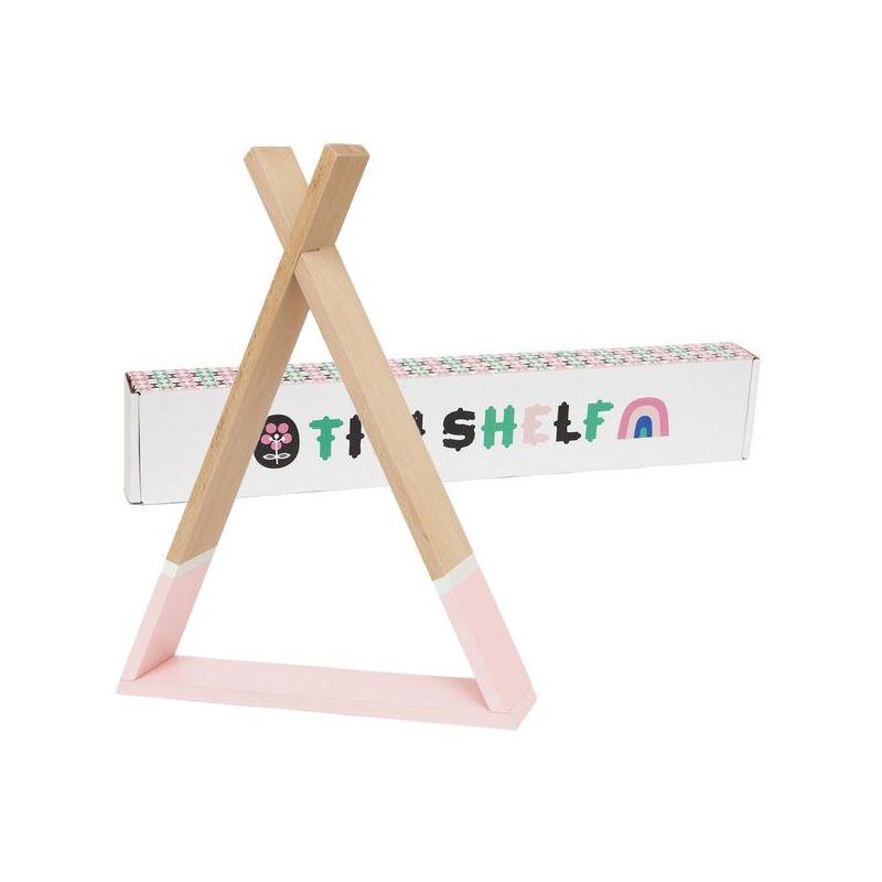 מדף טיפי לחדר ילדים מדף טיפי בצבע ורוד אקססוריז עיצוב חדר ילדים  - תמונה 2
