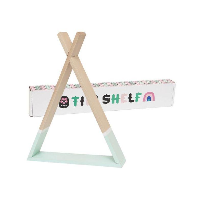 מדף טיפי לחדר ילדים מדף טיפי בצבע מנטה אקססוריז עיצוב חדר ילדים