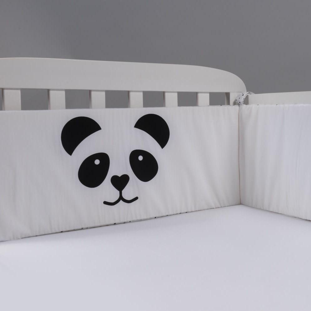 סט מצעים למיטת תינוק דגם פנדה