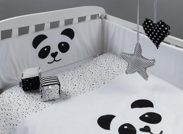 פנדה - סט מצעים בהזמנה אישית למיטת תינוק