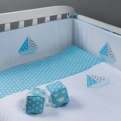 סט מצעים למיטת דגם תינוק מפרשיות