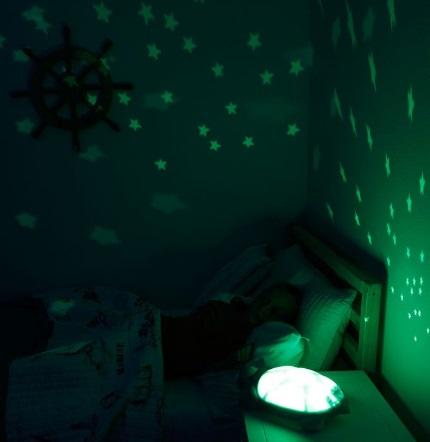 קלאוד בי מנורת לילה צב סגול תאורת כוכבים